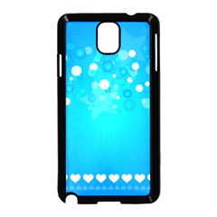 Blue Dot Star Samsung Galaxy Note 3 Neo Hardshell Case (Black)
