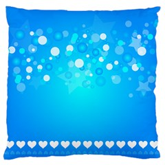 Blue Dot Star Large Flano Cushion Case (One Side)