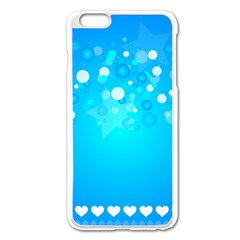 Blue Dot Star Apple iPhone 6 Plus/6S Plus Enamel White Case