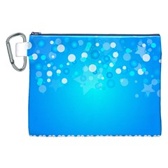 Blue Dot Star Canvas Cosmetic Bag (XXL)