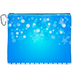 Blue Dot Star Canvas Cosmetic Bag (XXXL)