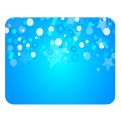 Blue Dot Star Double Sided Flano Blanket (Large)