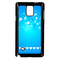 Blue Dot Star Samsung Galaxy Note 4 Case (Black)