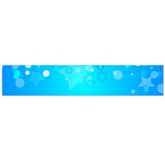 Blue Dot Star Flano Scarf (Large)