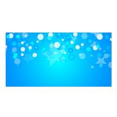 Blue Dot Star Satin Shawl