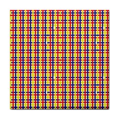 Yellow Blue Red Lines Color Pattern Tile Coasters