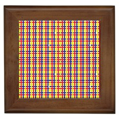 Yellow Blue Red Lines Color Pattern Framed Tiles
