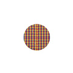 Yellow Blue Red Lines Color Pattern 1  Mini Buttons