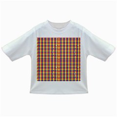 Yellow Blue Red Lines Color Pattern Infant/Toddler T-Shirts