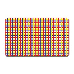 Yellow Blue Red Lines Color Pattern Magnet (rectangular)