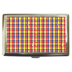 Yellow Blue Red Lines Color Pattern Cigarette Money Cases