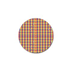 Yellow Blue Red Lines Color Pattern Golf Ball Marker (4 pack)