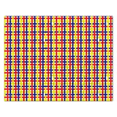 Yellow Blue Red Lines Color Pattern Rectangular Jigsaw Puzzl