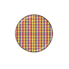 Yellow Blue Red Lines Color Pattern Hat Clip Ball Marker (4 pack)