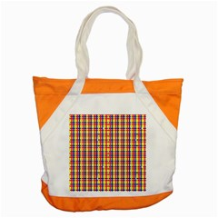 Yellow Blue Red Lines Color Pattern Accent Tote Bag