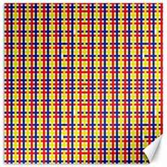 Yellow Blue Red Lines Color Pattern Canvas 12  X 12