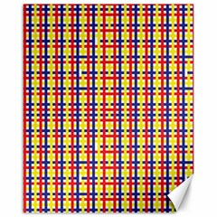 Yellow Blue Red Lines Color Pattern Canvas 16  X 20