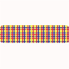 Yellow Blue Red Lines Color Pattern Large Bar Mats