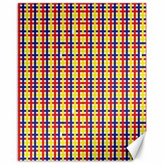 Yellow Blue Red Lines Color Pattern Canvas 11  X 14
