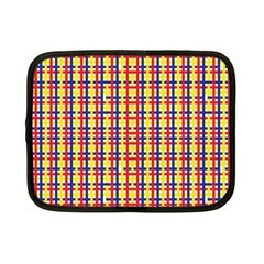 Yellow Blue Red Lines Color Pattern Netbook Case (Small)