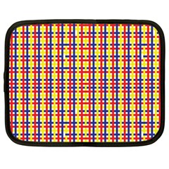 Yellow Blue Red Lines Color Pattern Netbook Case (Large)