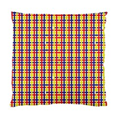 Yellow Blue Red Lines Color Pattern Standard Cushion Case (two Sides)