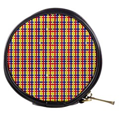 Yellow Blue Red Lines Color Pattern Mini Makeup Bags
