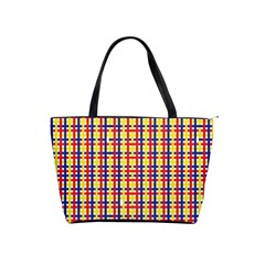 Yellow Blue Red Lines Color Pattern Shoulder Handbags