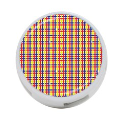 Yellow Blue Red Lines Color Pattern 4 Port Usb Hub (two Sides)