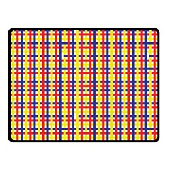Yellow Blue Red Lines Color Pattern Fleece Blanket (small)