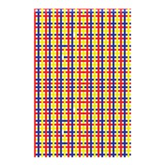 Yellow Blue Red Lines Color Pattern Shower Curtain 48  X 72  (small)