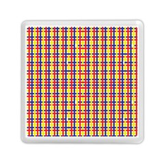 Yellow Blue Red Lines Color Pattern Memory Card Reader (square)