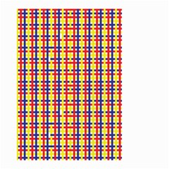 Yellow Blue Red Lines Color Pattern Small Garden Flag (Two Sides)