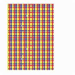 Yellow Blue Red Lines Color Pattern Large Garden Flag (Two Sides)