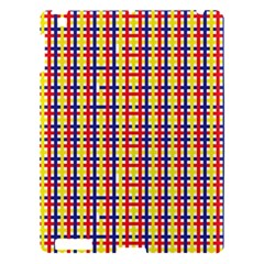 Yellow Blue Red Lines Color Pattern Apple iPad 3/4 Hardshell Case