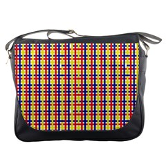 Yellow Blue Red Lines Color Pattern Messenger Bags
