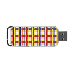 Yellow Blue Red Lines Color Pattern Portable Usb Flash (two Sides)