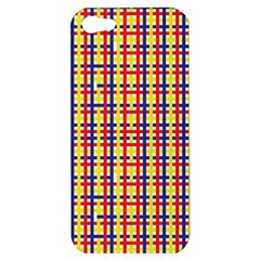 Yellow Blue Red Lines Color Pattern Apple Iphone 5 Hardshell Case