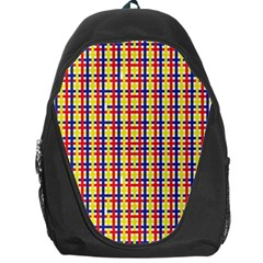 Yellow Blue Red Lines Color Pattern Backpack Bag