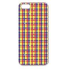 Yellow Blue Red Lines Color Pattern Apple Seamless iPhone 5 Case (Clear)