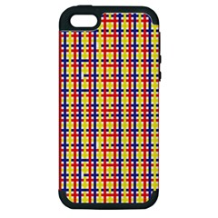 Yellow Blue Red Lines Color Pattern Apple iPhone 5 Hardshell Case (PC+Silicone)