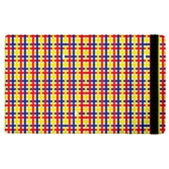 Yellow Blue Red Lines Color Pattern Apple iPad 2 Flip Case