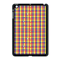 Yellow Blue Red Lines Color Pattern Apple iPad Mini Case (Black)