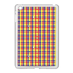 Yellow Blue Red Lines Color Pattern Apple iPad Mini Case (White)