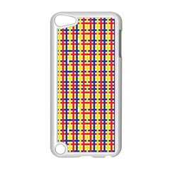 Yellow Blue Red Lines Color Pattern Apple iPod Touch 5 Case (White)