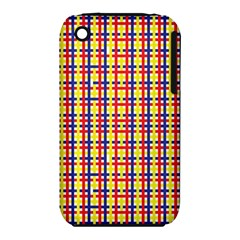 Yellow Blue Red Lines Color Pattern iPhone 3S/3GS