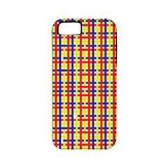 Yellow Blue Red Lines Color Pattern Apple iPhone 5 Classic Hardshell Case (PC+Silicone)