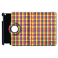 Yellow Blue Red Lines Color Pattern Apple Ipad 3/4 Flip 360 Case