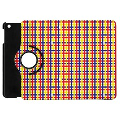 Yellow Blue Red Lines Color Pattern Apple iPad Mini Flip 360 Case