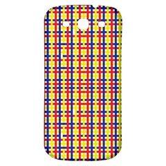 Yellow Blue Red Lines Color Pattern Samsung Galaxy S3 S III Classic Hardshell Back Case
